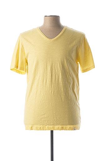 T-shirt manches courtes jaune HARRIS WILSON pour homme