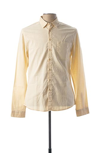 Chemise manches longues beige PEARLY KING pour homme