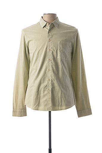 Chemise manches longues vert PEARLY KING pour homme