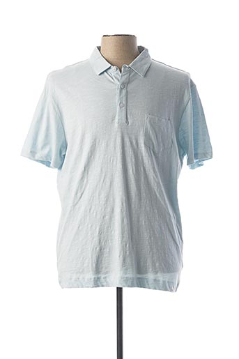 Polo manches courtes bleu HARRIS WILSON pour homme