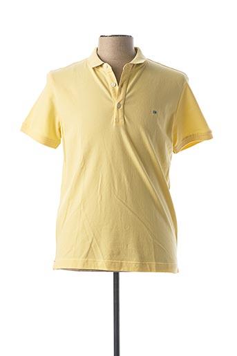 Polo manches courtes jaune HARRIS WILSON pour homme