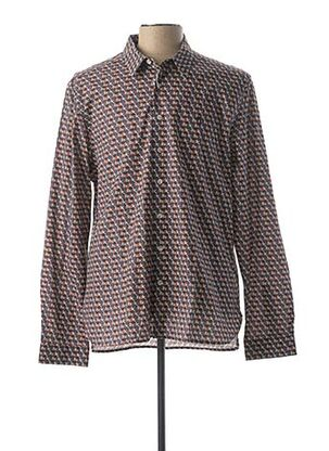 Chemise manches longues marron PEARLY KING pour homme