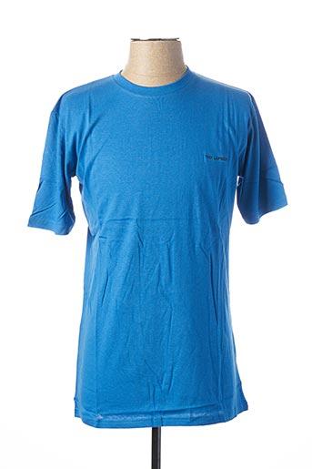 T-shirt manches courtes bleu TED LAPIDUS pour homme