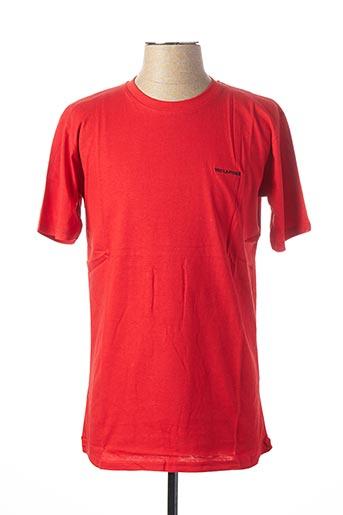 T-shirt manches courtes rouge TED LAPIDUS pour homme