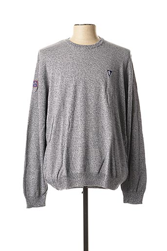 Pull col rond bleu CAMBERABERO pour homme
