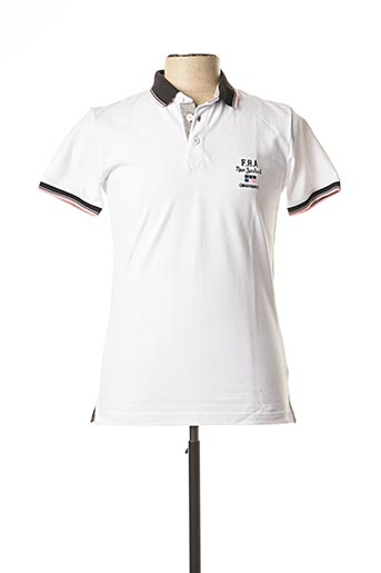 Polo manches courtes blanc CAMBERABERO pour homme