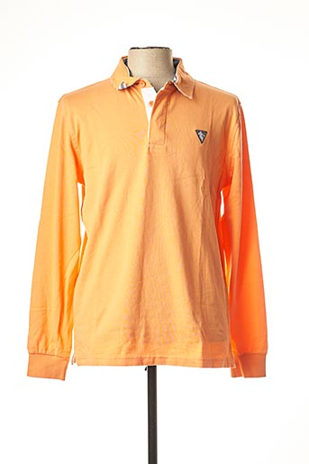 Polo manches longues orange CAMBERABERO pour homme
