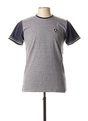 T-shirt manches courtes bleu CAMBERABERO pour homme seconde vue