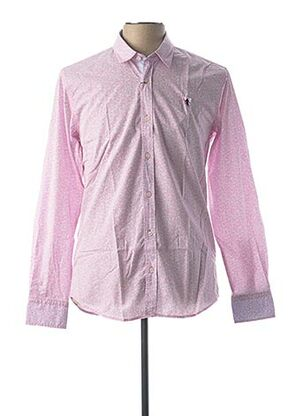 Chemise manches longues rose CAMBERABERO pour homme