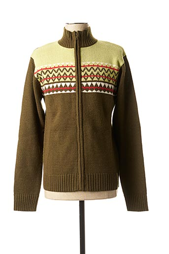 Gilet manches longues vert TEDDY SMITH pour homme