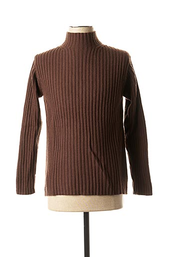 Pull col cheminée marron TEDDY SMITH pour homme