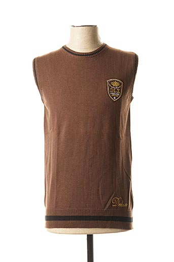 Pull col rond marron DEELUXE pour homme