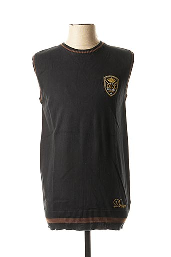 Pull col rond noir DEELUXE pour homme