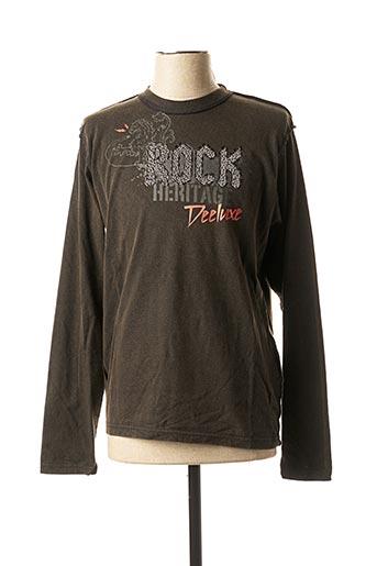 T-shirt manches longues noir DEELUXE pour homme