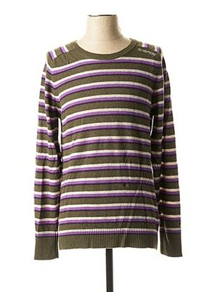 Pull col cheminée vert ENERGIE pour homme