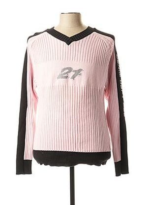 Pull col V rose RWD pour homme