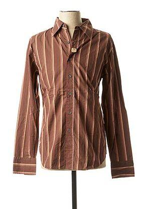 Chemise manches longues marron RWD pour homme
