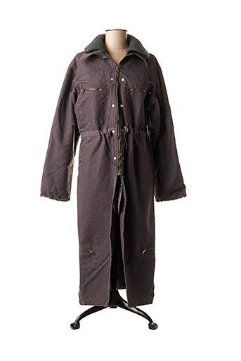 Manteau long noir SCHOOL RAG pour femme