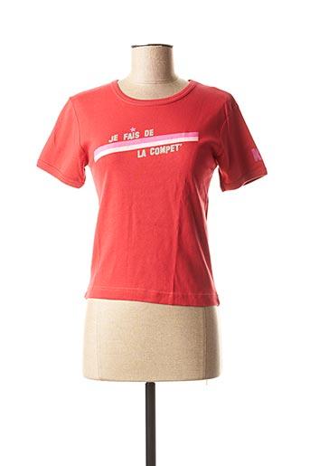 T-shirt manches courtes rouge KANA BEACH pour femme