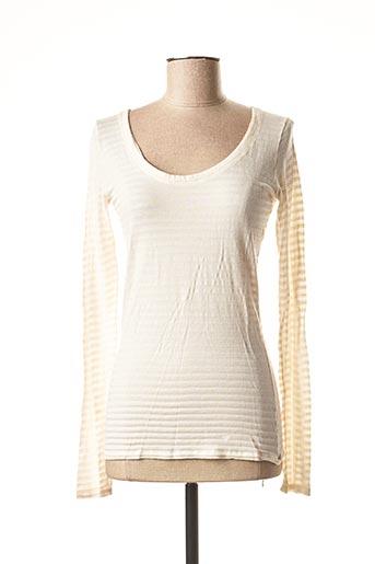 T-shirt manches longues beige AEM'KEI pour femme