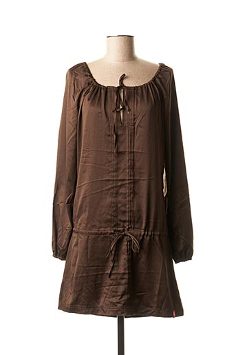 Robe courte marron EDC BY ESPRIT pour femme