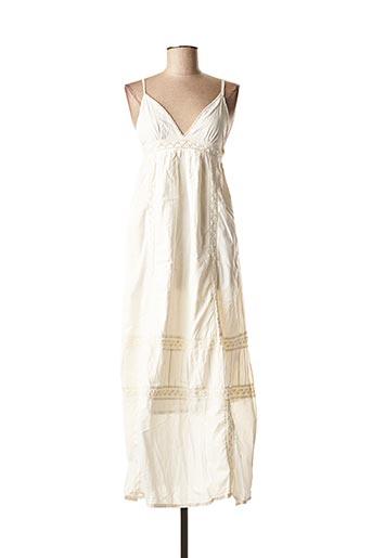 Robe mi-longue beige BLEND SHE pour femme