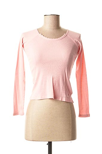 T-shirt manches longues rose TEDDY SMITH pour fille