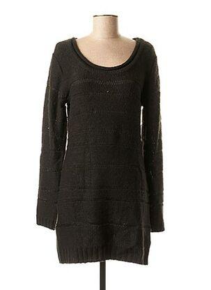 Robe pull noir ICHI pour femme