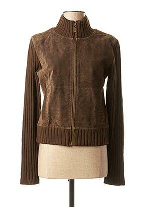 Veste casual marron TEDDY SMITH pour femme