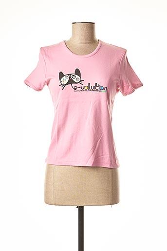 T-shirt manches courtes rose KANA BEACH pour femme