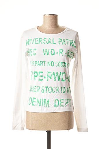 T-shirt manches longues blanc RWD pour femme