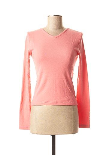 T-shirt manches longues rose SCHOOL RAG pour femme