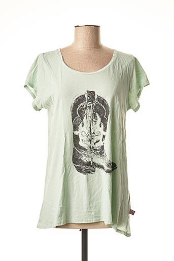 T-shirt manches longues vert I LOVE MY T'S pour femme