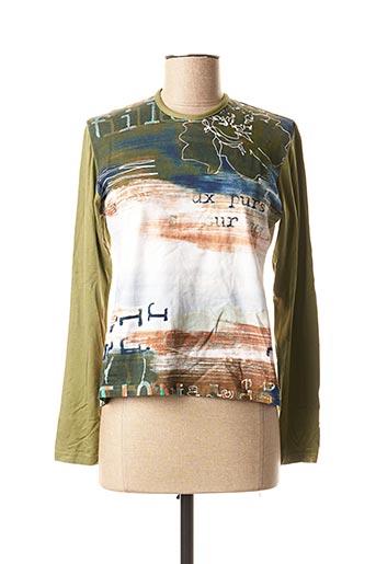 T-shirt manches longues vert LUNA SORETI pour femme