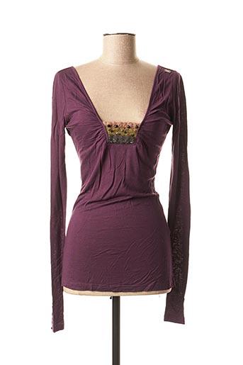 T-shirt manches longues violet MISS SIXTY pour femme