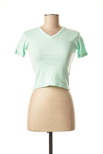 T-shirt manches courtes vert TEDDY SMITH pour fille