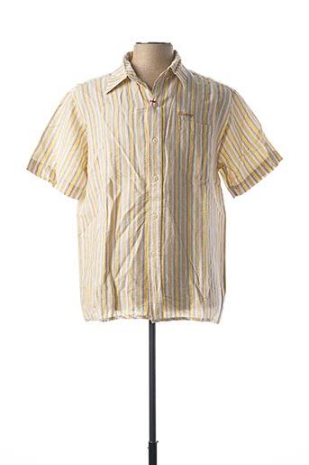Chemise manches courtes jaune FIRETRAP pour homme