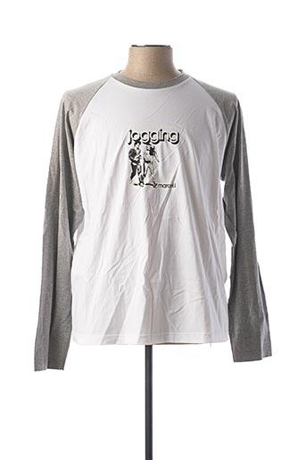T-shirt manches longues blanc KANA BEACH pour homme