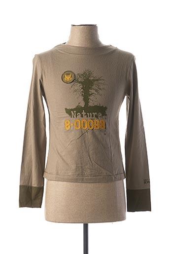 T-shirt manches longues vert RWD pour homme