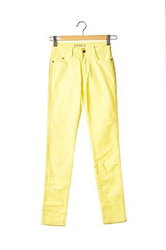 Pantalon casual jaune MINI MIGNON pour fille