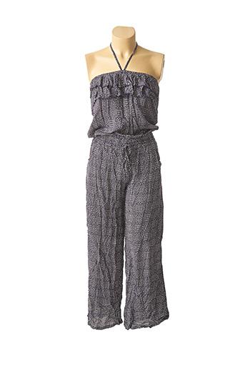 Combi-pantalon bleu ARONA pour femme