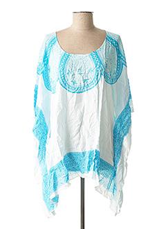 Tunique manches courtes bleu BEACHWEAR pour femme