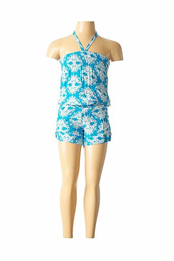 Combishort bleu BEACHWEAR pour fille