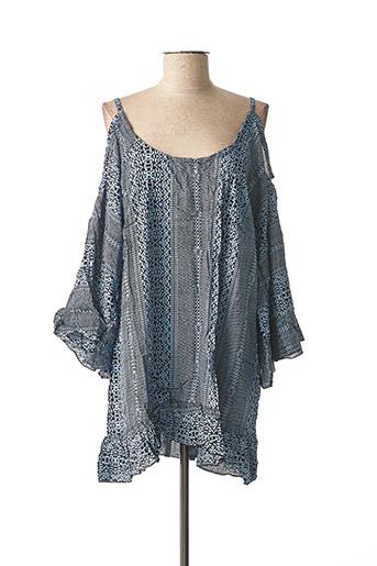 Robe courte bleu BEACHWEAR pour femme