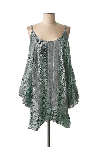 Robe courte vert BEACHWEAR pour femme
