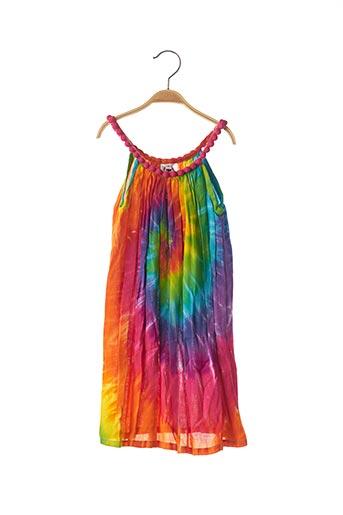 Robe longue orange BEACHWEAR pour fille