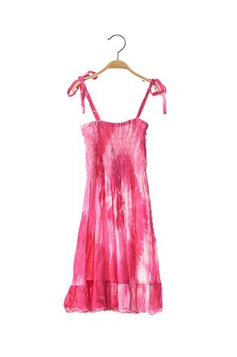 Robe longue rose BEACHWEAR pour fille