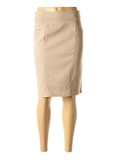 Jupe mi-longue beige HALOGENE pour femme