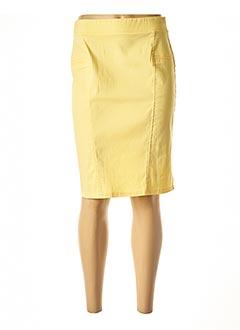Jupe mi-longue jaune HALOGENE pour femme