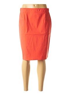 Jupe mi-longue rouge HALOGENE pour femme